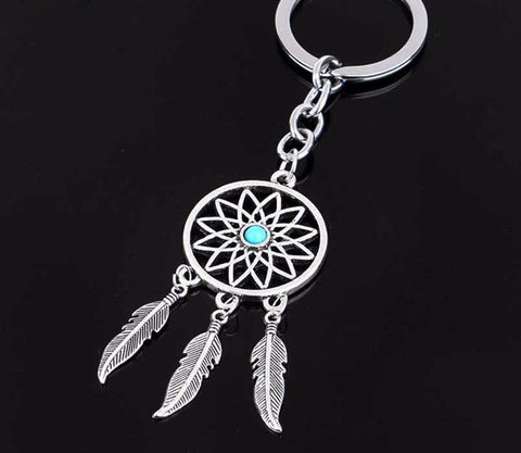 Dreamcatcher Feather Tassel Keychain Pendant