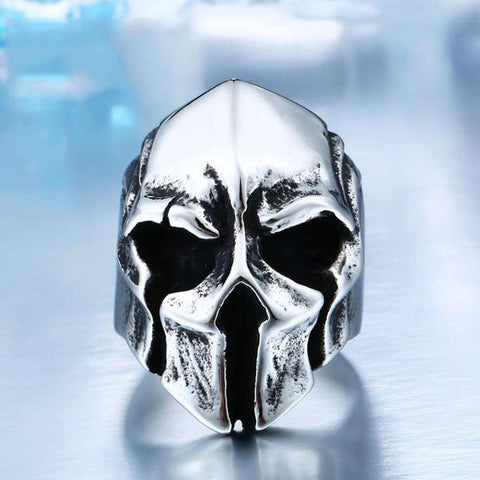 Big Biker Skull Stainless Steel Unique Punk Ring