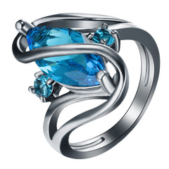 Caged Blue Ring For Diabetes Awareness