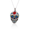 Image of Colorful Party Skull Pendant Necklace