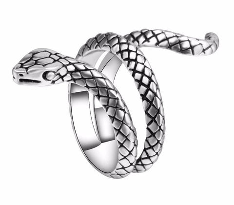 Vintage Animal Heavy Metals Punk Rock Snake Rings