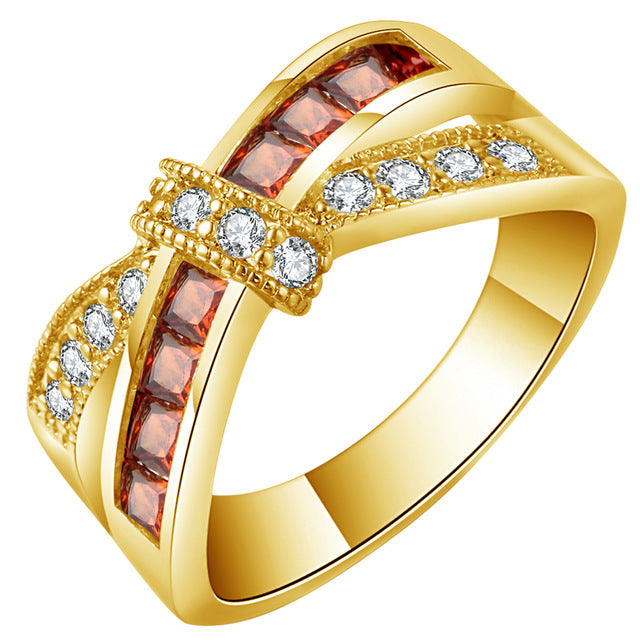 Gold Cross Support Cancer Awareness Ring