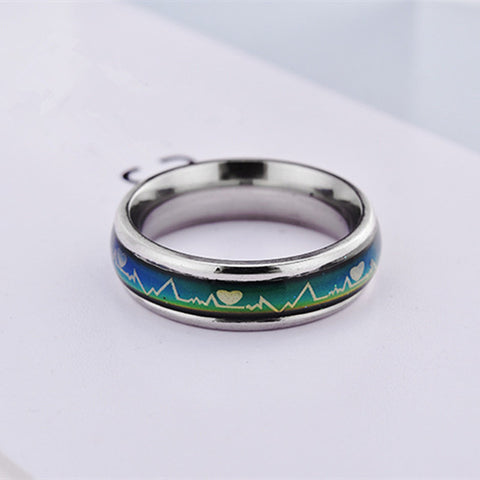 Fashion Titanium Black Mood Promise Rings For Couples