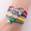 Image of AUTISM Awareness Heart Charming leather Bracelet Bangles