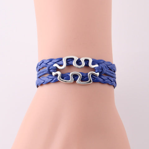 Autism speaks Puzzle Pieces Lobster Bracelet