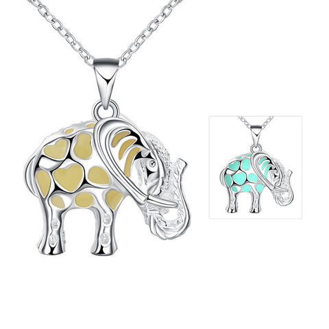 Elephant Glow In The Dark Locket