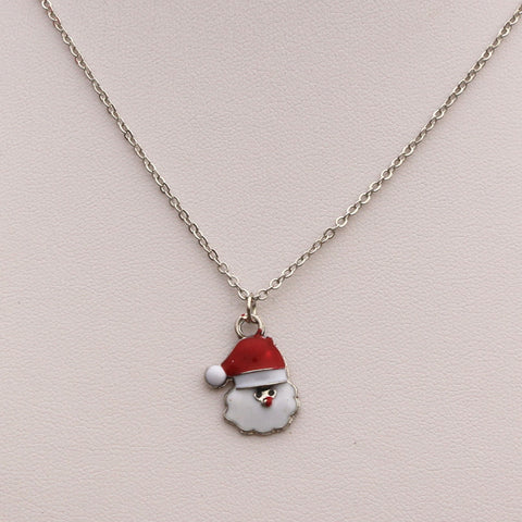 Punk Girl Christmas Santa Claus Chain Necklace