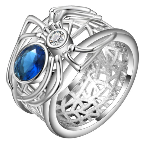 White Gold Filled Spider Ring