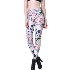 3D Printed Skull Fitness Leggings
