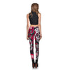 Image of Skull & Flower Black Leggings