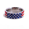American Flag Stainless Steel Ring