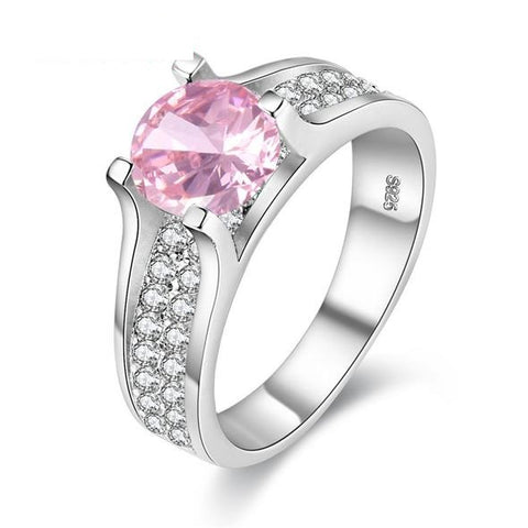 **Free Shipping**<br> Pink Pave Ring