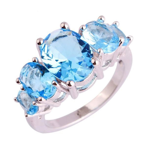 SeaBlue Diabetes Awareness Ring