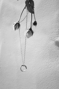 OPEN RUFFLE PENDANT NECKLACE
