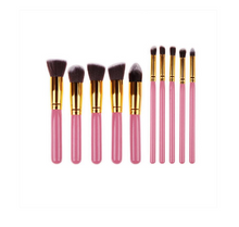 Load image into Gallery viewer, 10PCS PRO PINK BRUSH SET