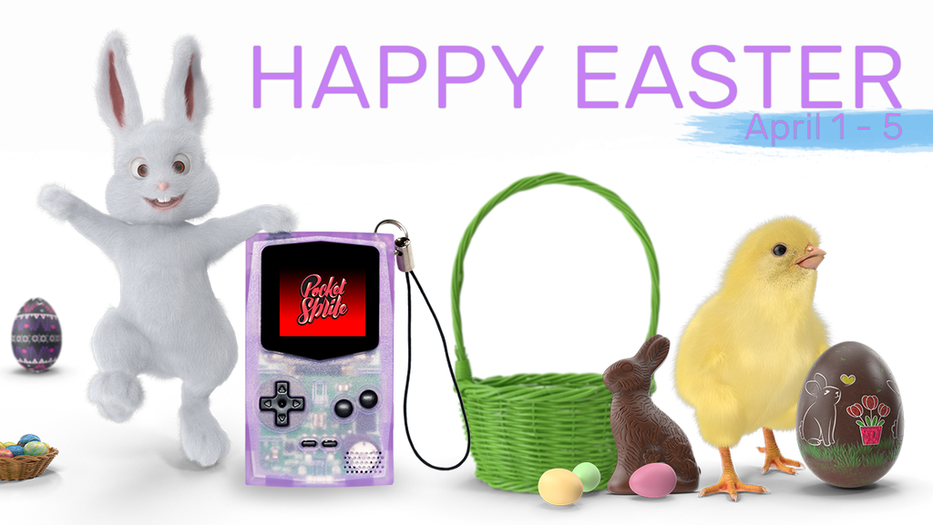 Easter promotion 10% OFF on Pocketsprites  April 1-5