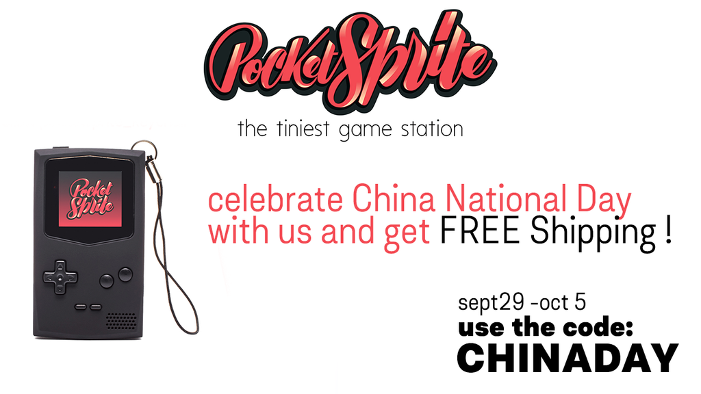 Get Free Shipping from Sept 29 to Oct 5 celebrating China National Holiday - use the code CHINADAY + instagram giveaway