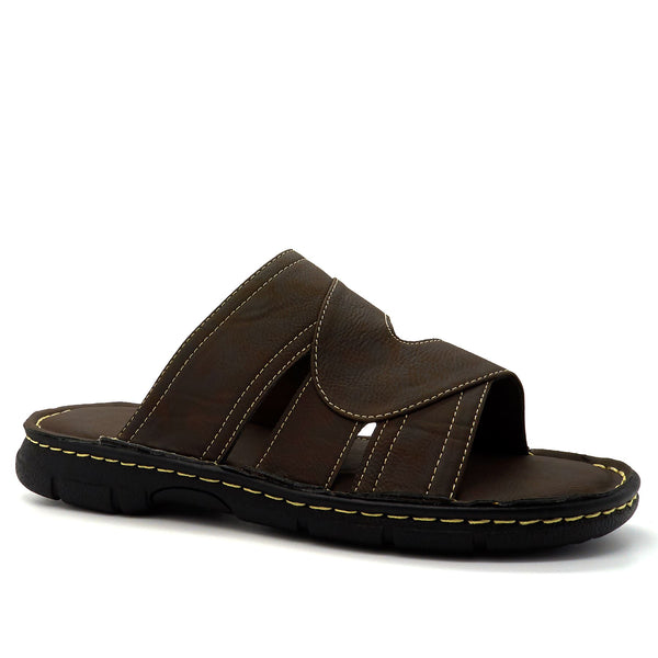 Brown Cut Out Strap Sandals