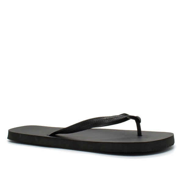 Black V Shaped Flip Flops