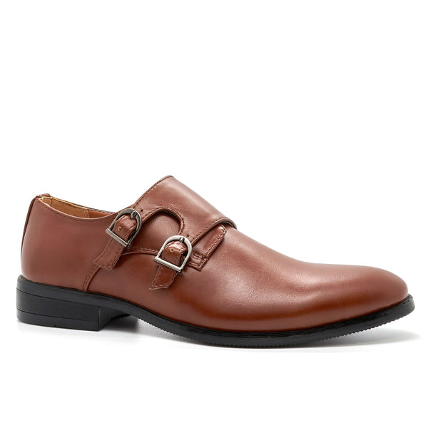 Brown Derby Double Monk Shoes