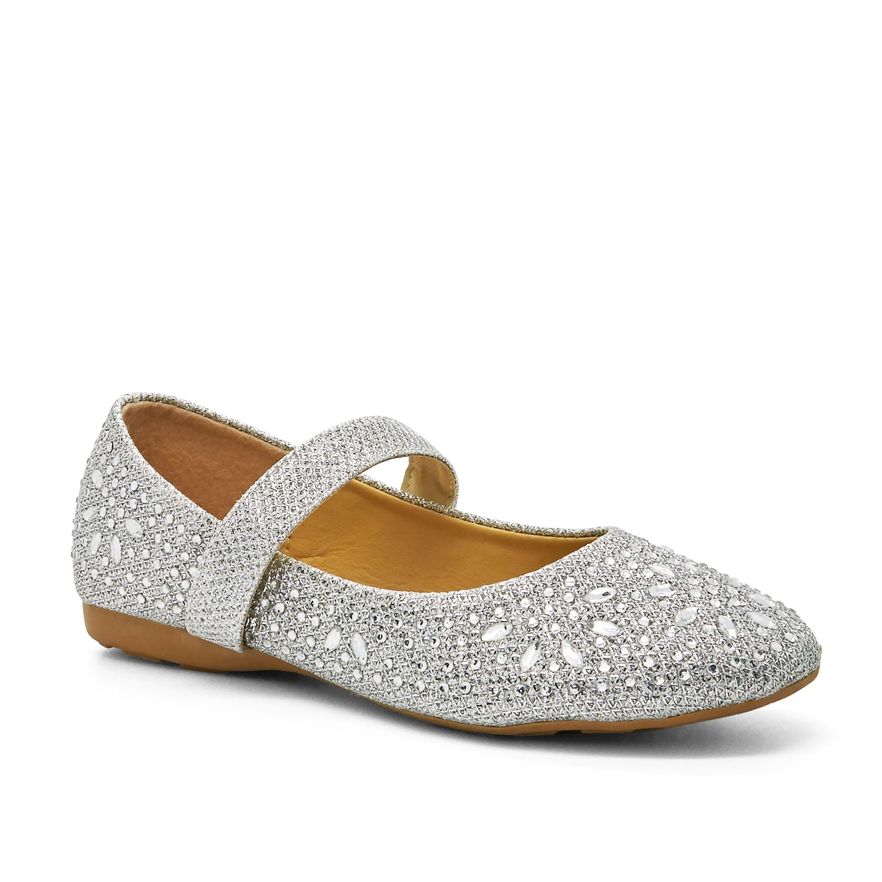 Silver Heat Fix Glitter Mary Janes