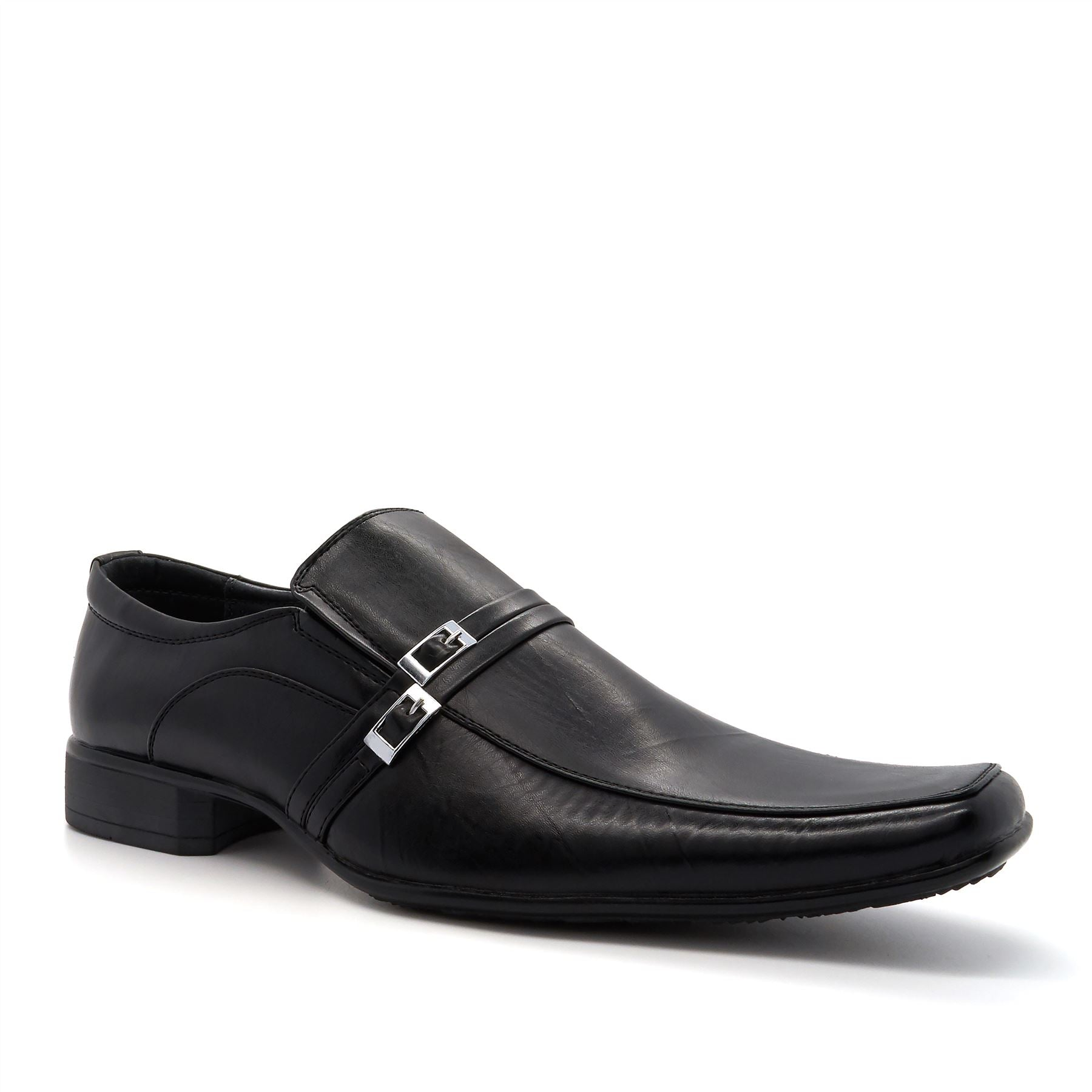 Black Pin Buckle Detail Slip On