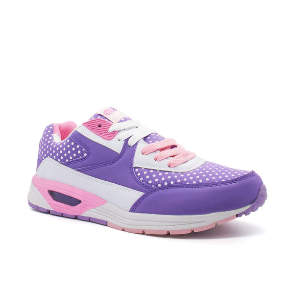 Purple Polka Dot Lace Up Trainer