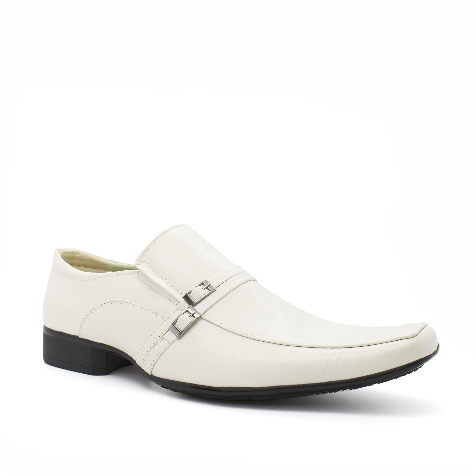 White Pin Buckle Detail Slip On