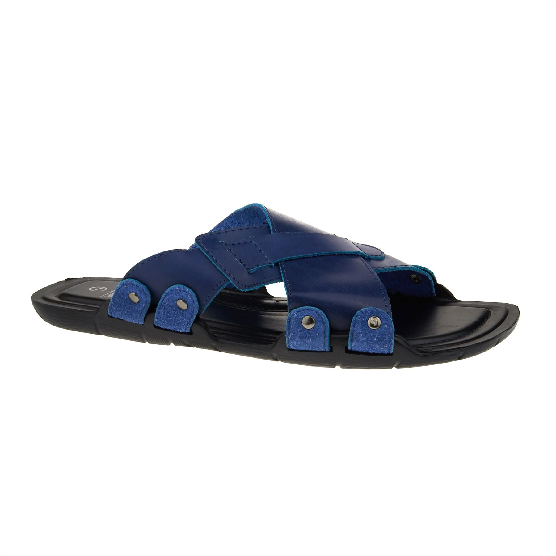 Navy Cross Strap Walking Sandals