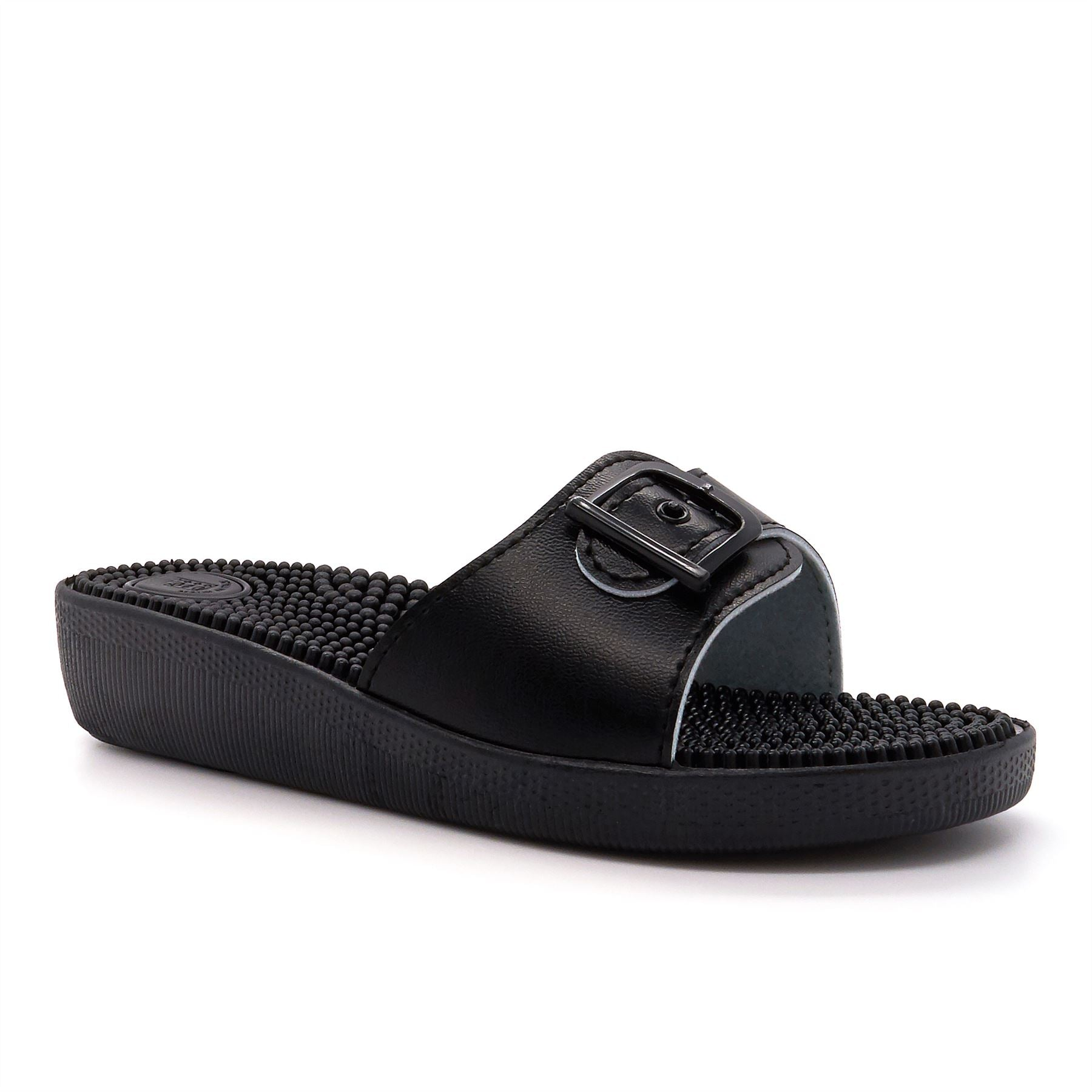 Black Adjustable Massage Mules