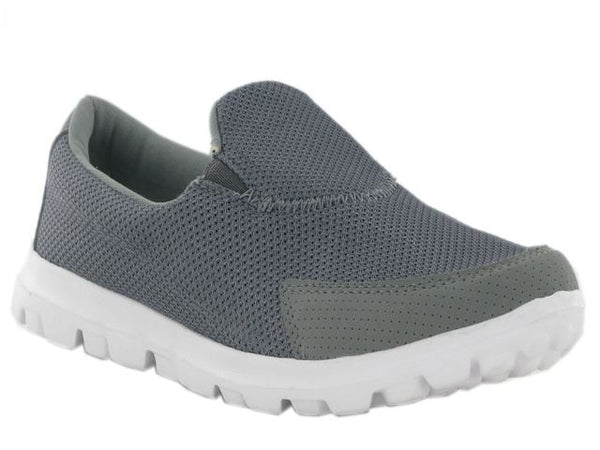 Grey Lightweight Textile Mesh Trainers