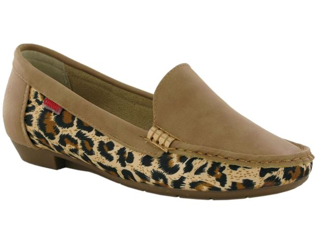 Brown Leopard Print Loafers