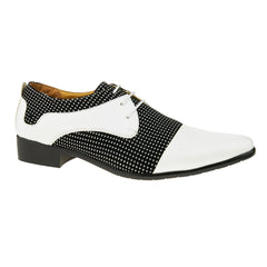 Black / White Lace Up Derby Shoes
