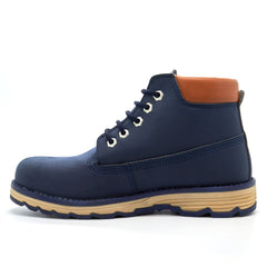 Blue 5 Eye Lace Up Boots