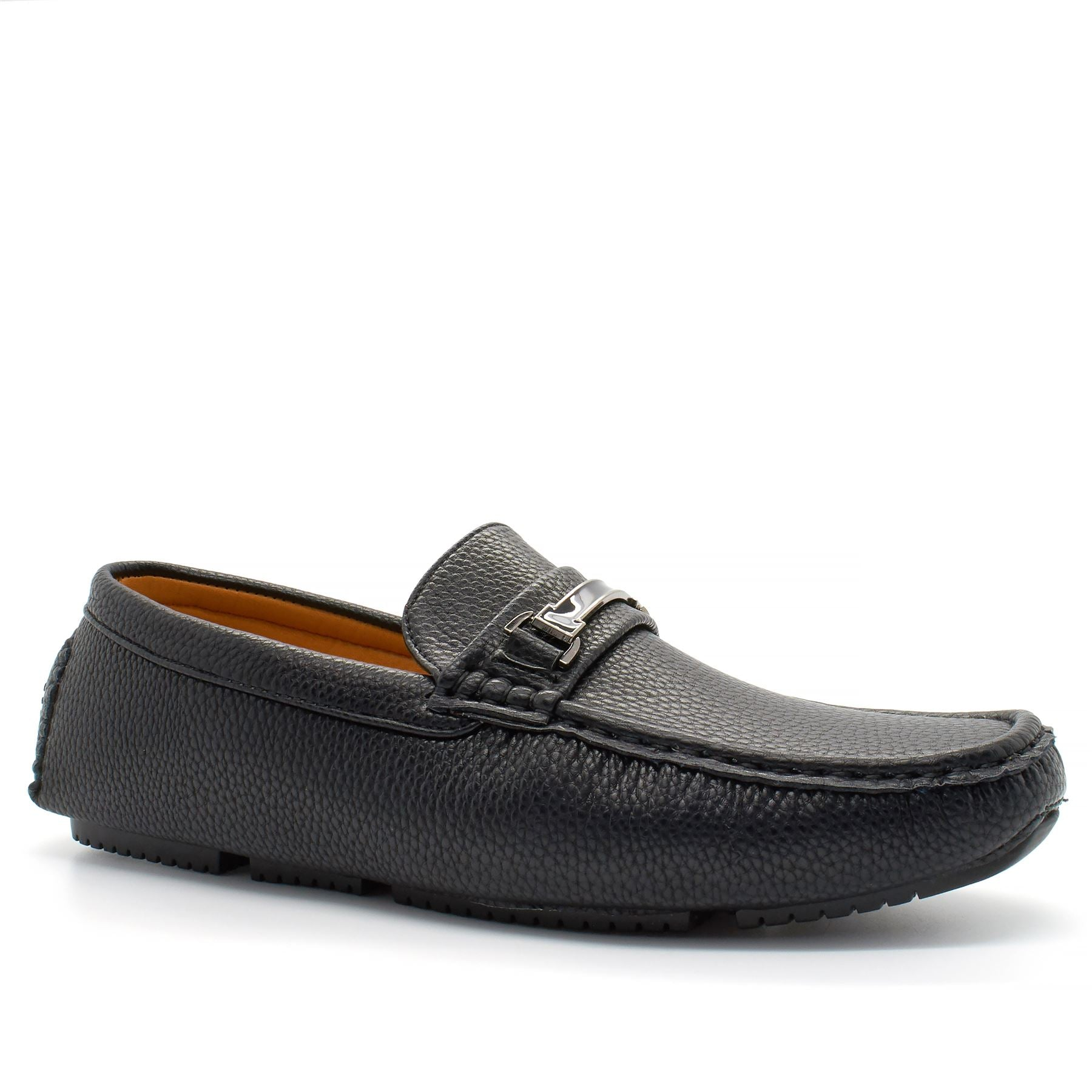 Black Faux Leather Driving Shoes