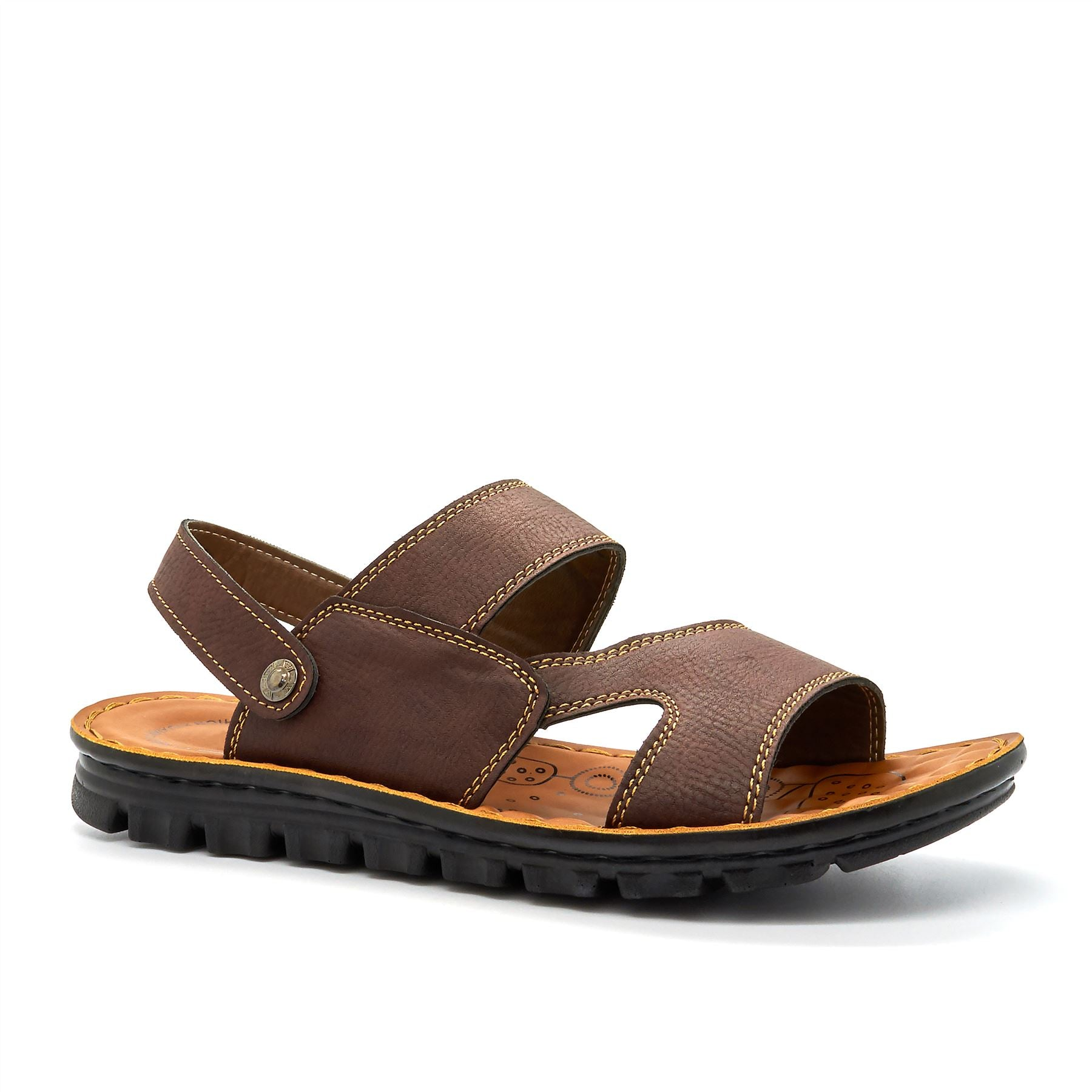 Brown Cut Out Walking Sandals