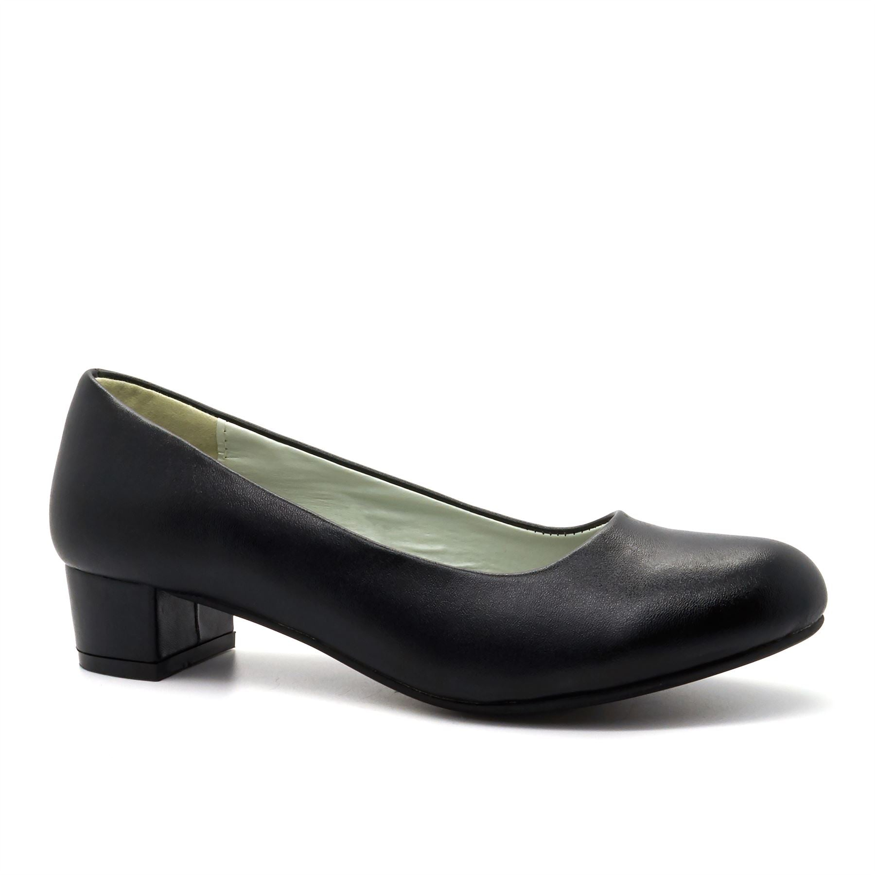 Black Heeled Court Shoes