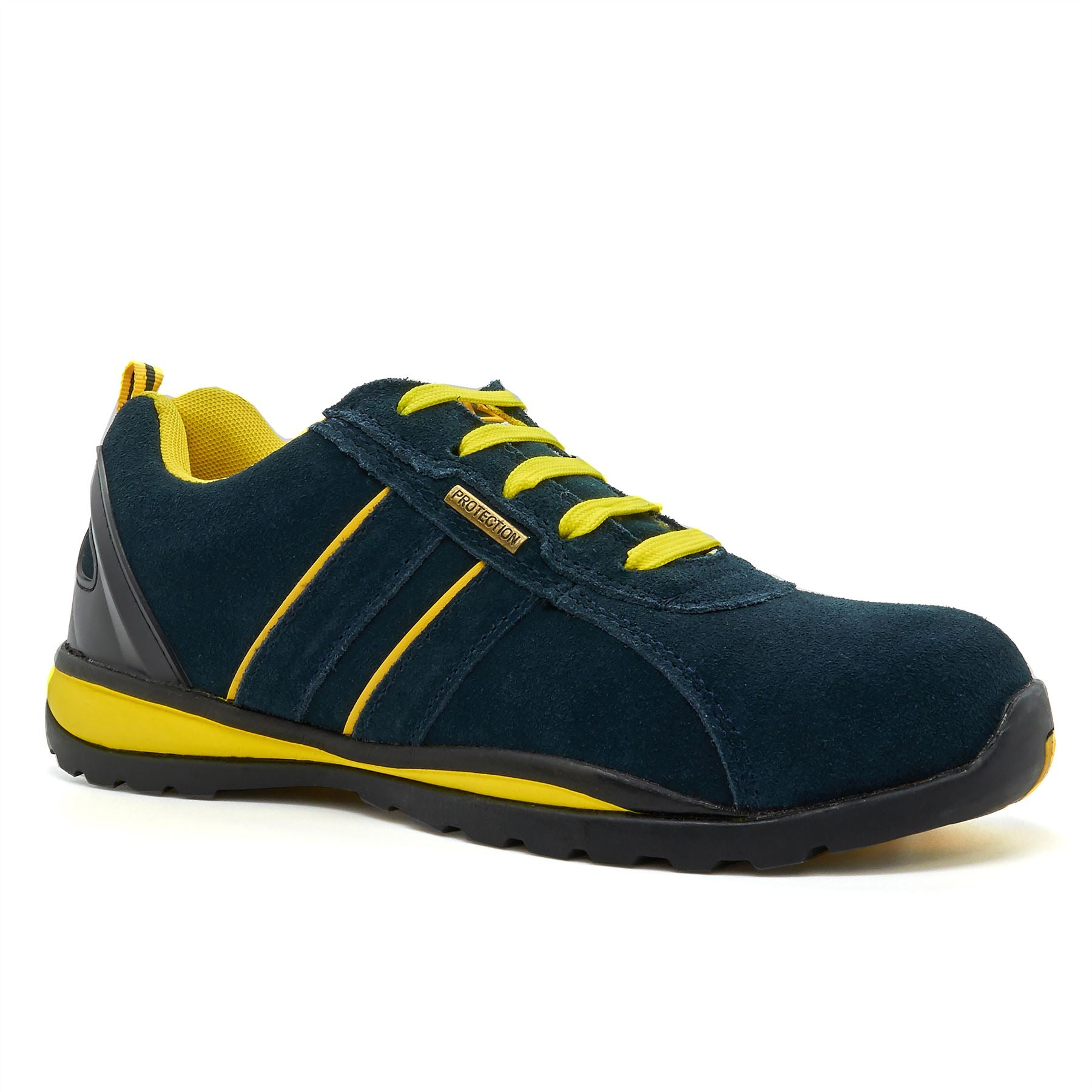 Blue Suede Safety Trainers