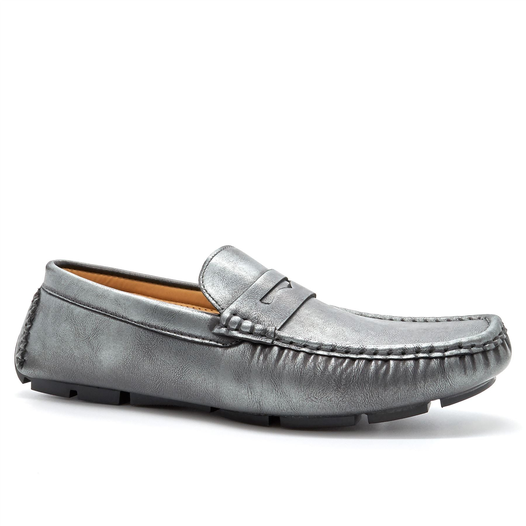 Grey Penny Strap Driving Shoes