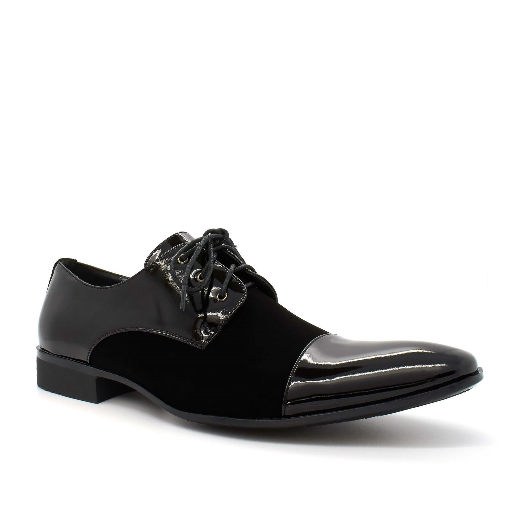 Black Patent Lace Up Derby