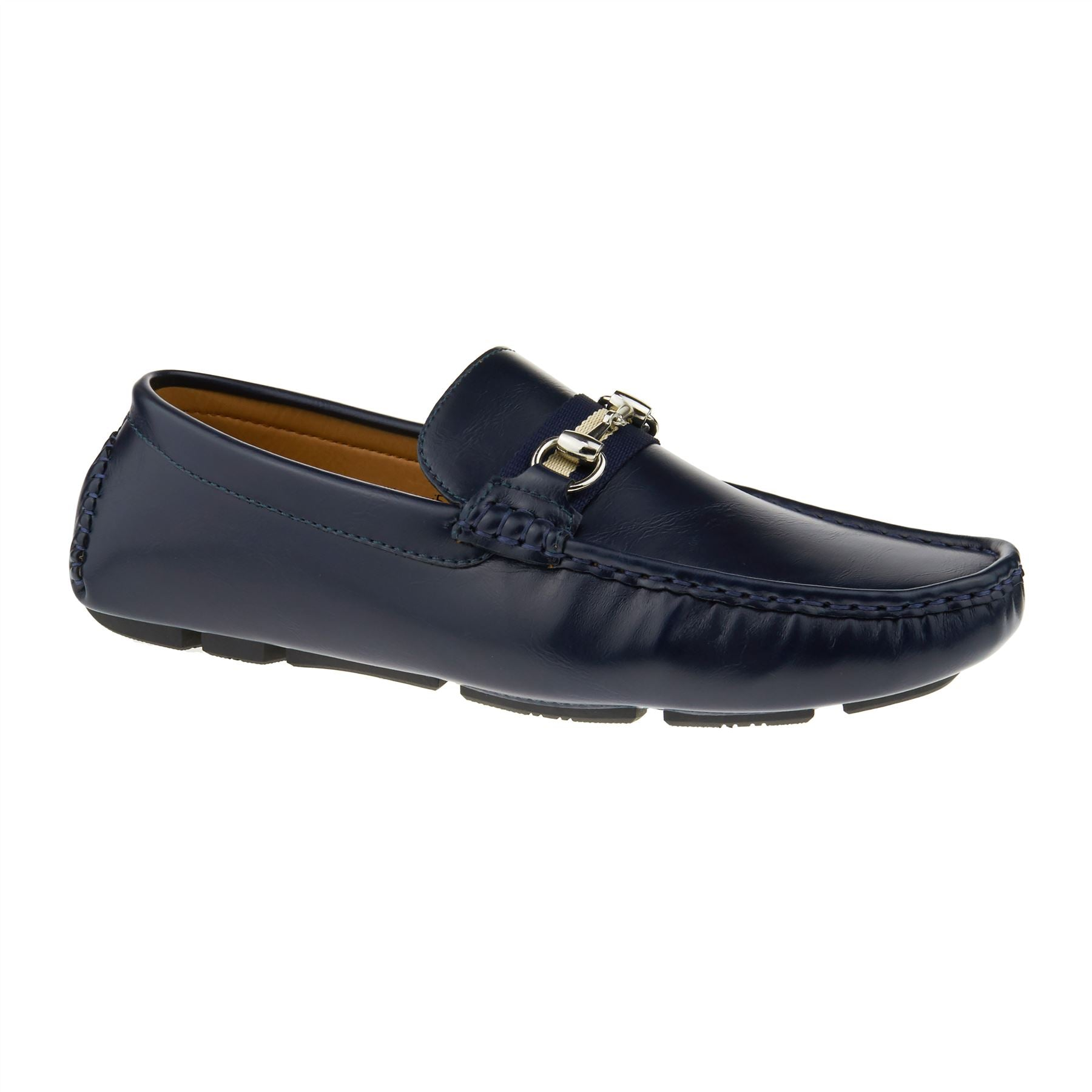Navy Horsebit Driving Shoes