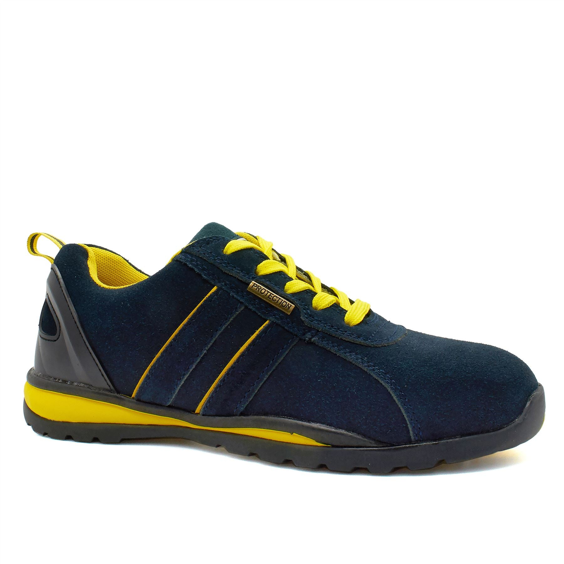 Navy Suede Safety Trainers