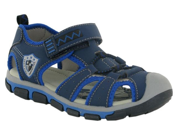 Blue Hook & Loop Outdoor Sandals