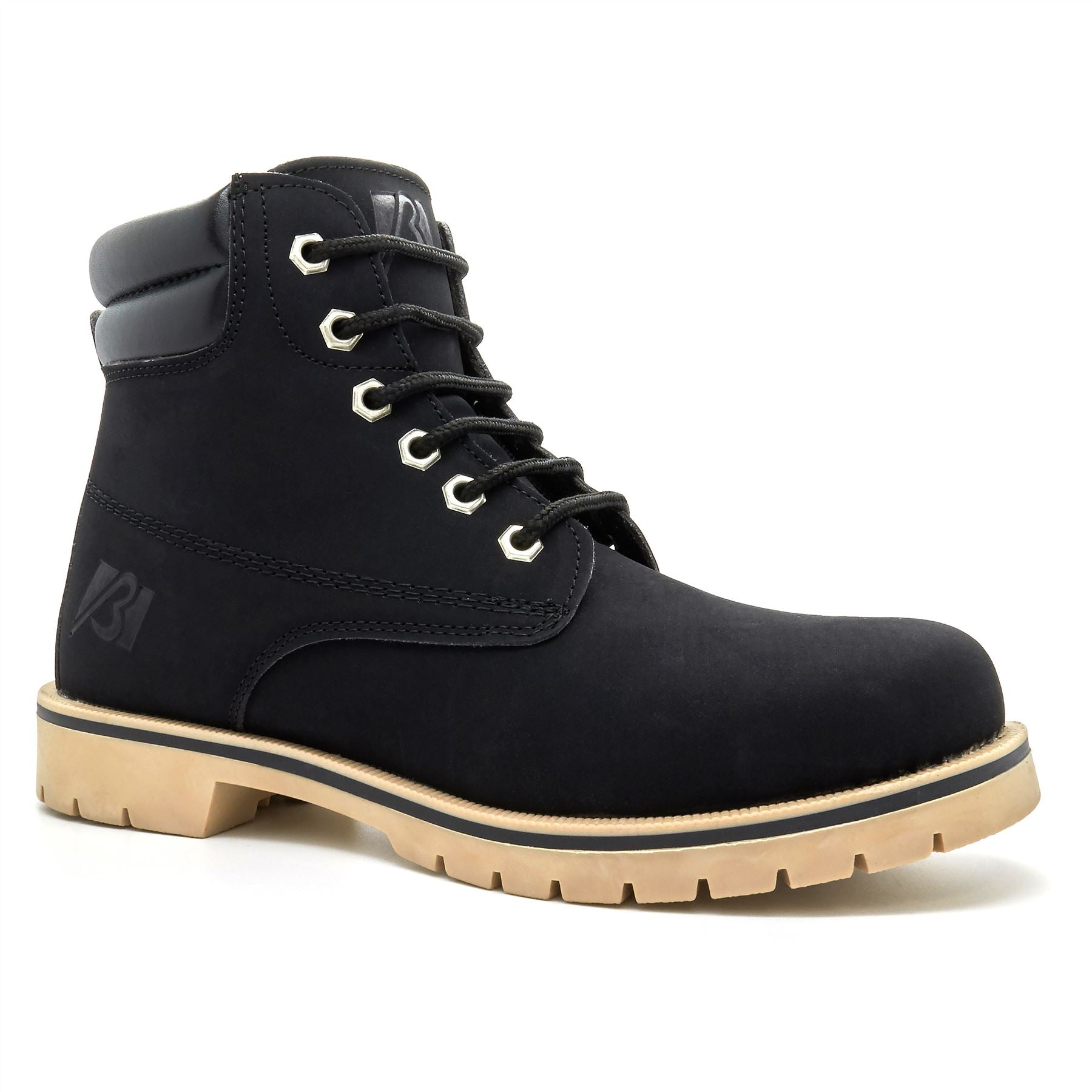Black 6 Eyelet Lace Up Boots