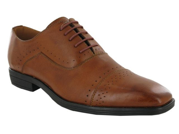 Tan Brogue Detail Oxford Shoes