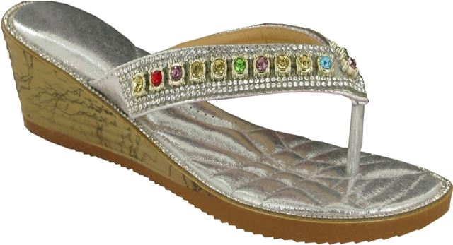 64affcb287c314 Silver V Strap Jewelled Flip Flops – London Footwear