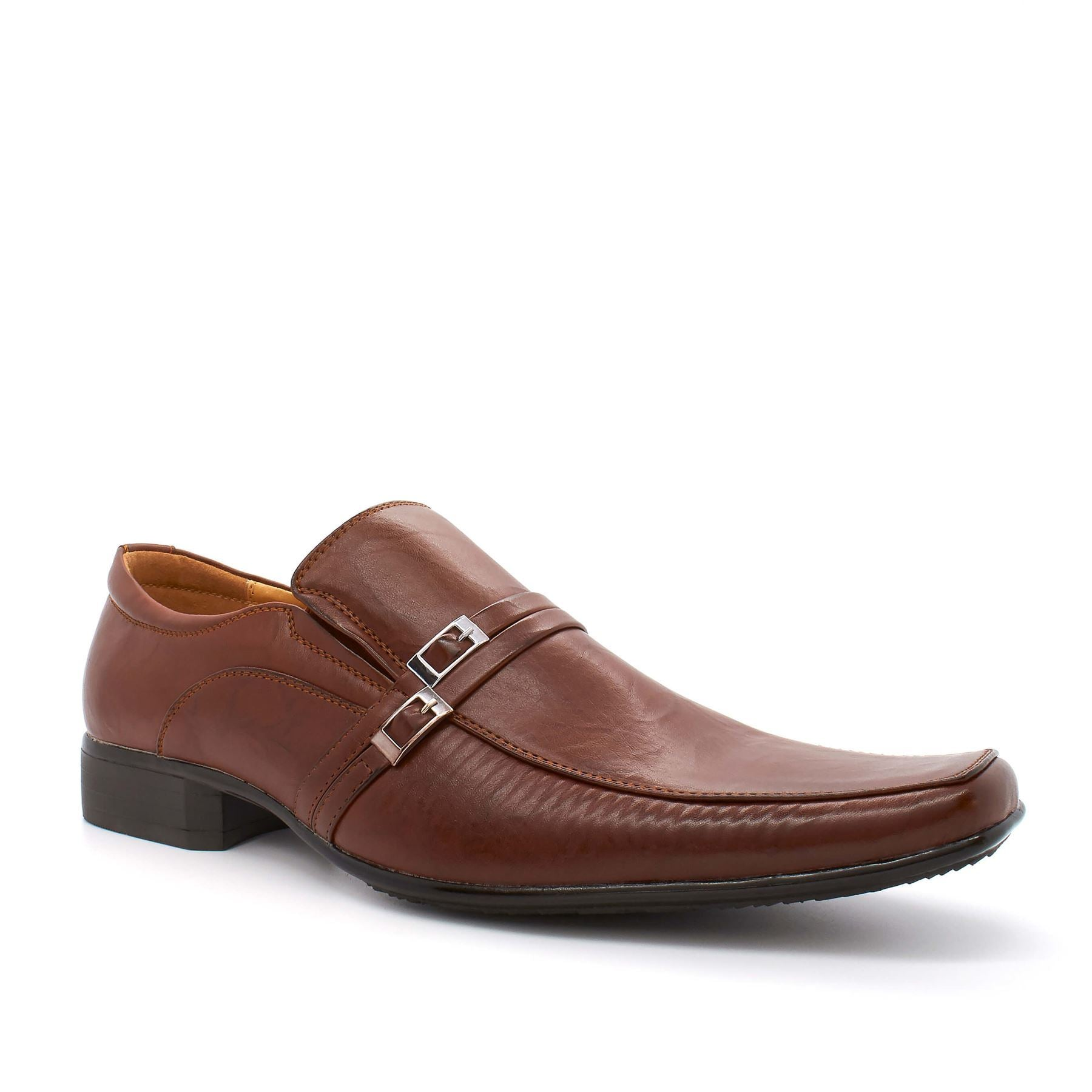 Brown Pin Buckle Detail Slip On