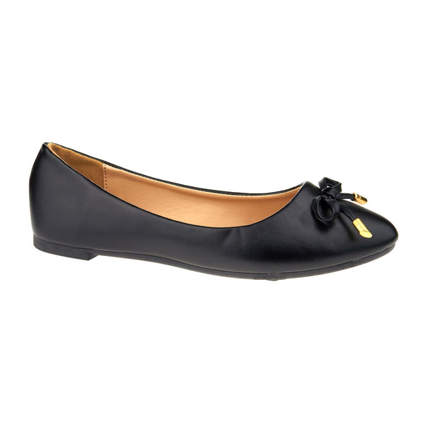 Black Bow Detail Ballet Flats