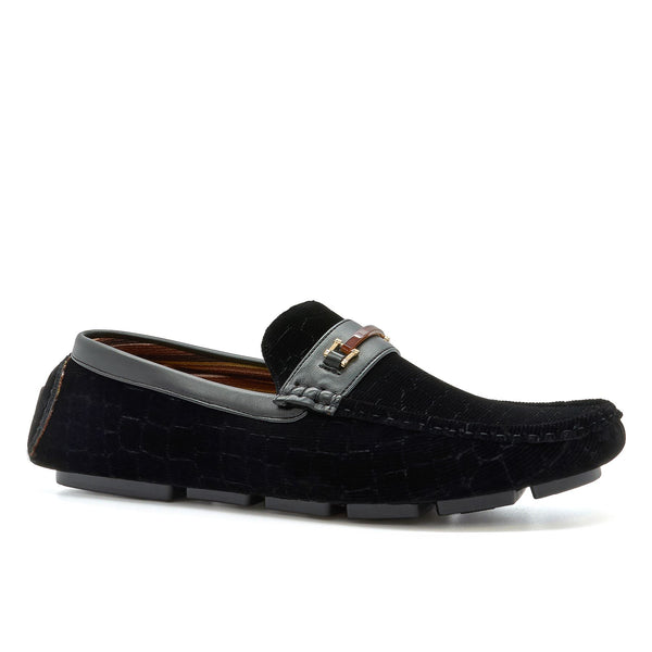 Black Corduroy Driving Shoes