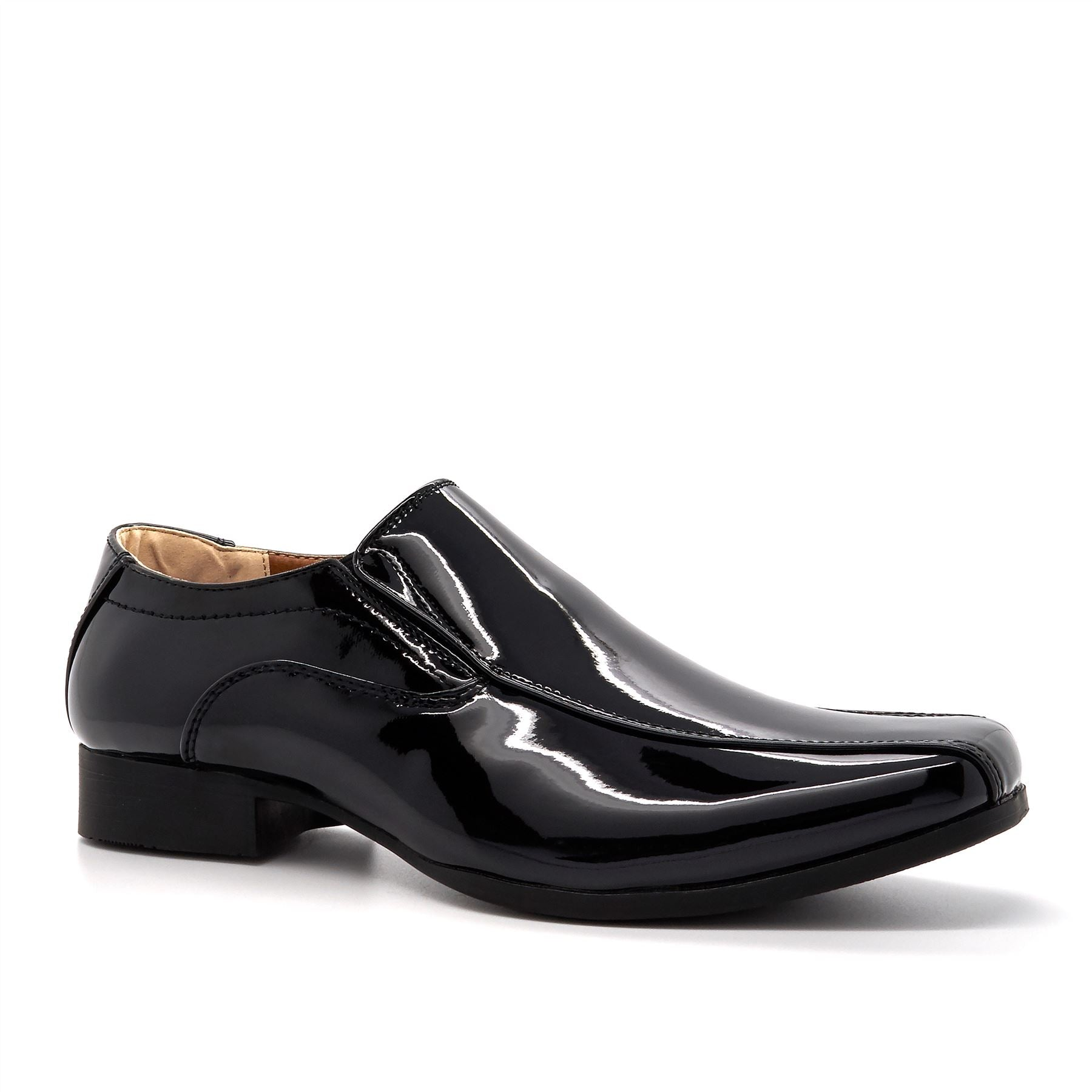 Black Patent Slip On Loafers